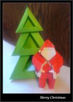Christmas Origami by lonely--soldier