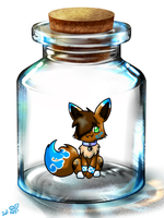 Chibi Ginger in a bottle by eevee4everX3
