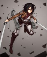 mikasa by wilingbbh