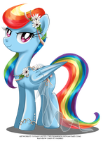 May Festival Pony - Rainbow Dash by selinmarsou
