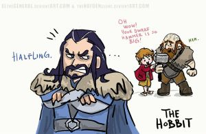 HOBBIT DOODLE JEALOUS THORIN by ElTheGeneral