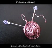 Knitter Lover's Pendant by MelodiousRoseDuelist