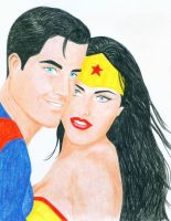 Portrait of Kal and Diana by IMFanci