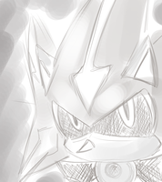 sketchy chara- Neo Metal Sonic by LeniProduction