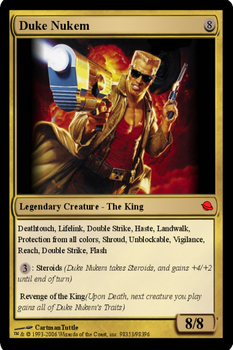 Duke Nukem Magic Card by b1nary-mast0r