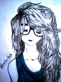 Girl with glasses by blume8
