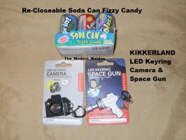Kikkerland Camera Space Gun and Fizzy Soda Cans by The-Modern-Maiden