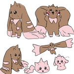 some lopmon doodles by K40rin