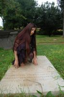 Girl in Cemetery 11 by InTenebris-Stock