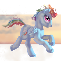Rainbow Dashing by MohawkMax