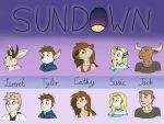 Sundown characters star by Lokamie