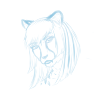 Masika step 1 - Sketch by Redbell9