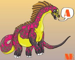 A is for Amargasaurus by MilkToothCuts