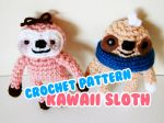 cute kawaii amigurumi sloth pattern by hellohappycrafts