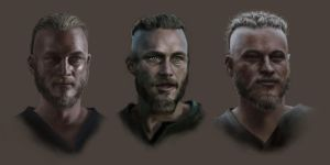 Ragnar head study by DoctorChoukrotte