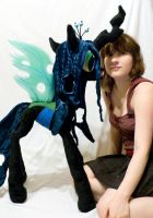 Giant Queen Chrysalis plush by mmmgaleryjka
