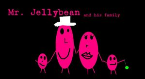 Mr. Jellybean and his family by nofxcrackers
