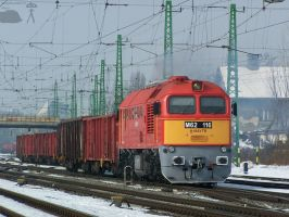 M62 116 with goods train in Gyor-gyarvaros by morpheus880223