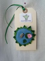 Fishpond brooch by HypotheticalTextiles