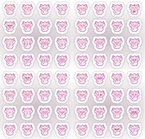 Shiny Face Stickers by pupom