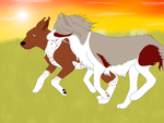 Ryker and Jackie Race by SparrowIllustrations