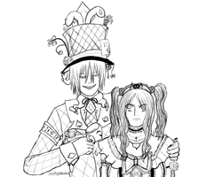 Hatter Love - Lineart by maybesomecake