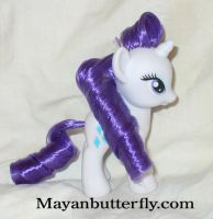 Rarity Friendship is Magic Custom My Little Pony by mayanbutterfly