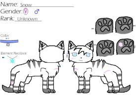 Snow -CAT OC- by blackkittenpawz