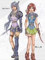 Dragoons:colored--Syrin n Elle by ReeveLy