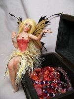 'Tess' treasure chest fairy by AmandaKathryn