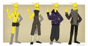 blane wears clothes by UnknownSpy