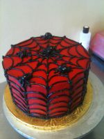 Spider Butter Cream Cake by Spudnuts