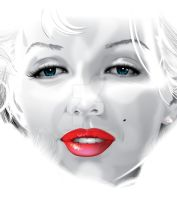 Marilyn Monroe Vector by KiwiArtyFarty