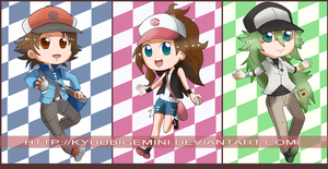 Pokemon Black n White Chibis by Kanokawa