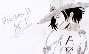 Ace - One Piece by Gbtz007