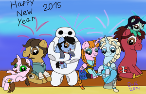 Happy New Year 2015 My Little Disney by Dulcechica19