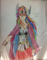 Sky God - Rainbow Dash (Colored) by Jujubesca