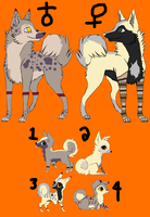 Wolf/dog adopts by ZerosAdopts
