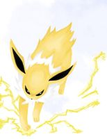 Jolteon Battle by foreverfornever740
