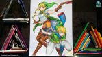 Linkle and Link -  Hyrule Warriors Legends by seiji0