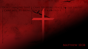 Matthew 10:34 by jasonbot