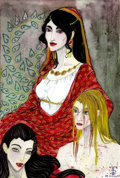 Paloma and her progeny by almaticani