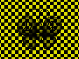 checkered butterfly by raivcesleinadnayr