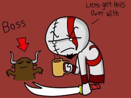 kratos hates mondays by chibitrinity