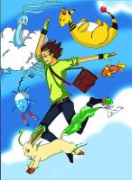 Lets go pokemon team by DO-anotherstory