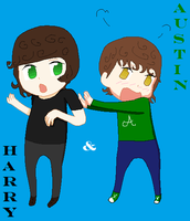 austin and harry styles by NAMIHATAKE6