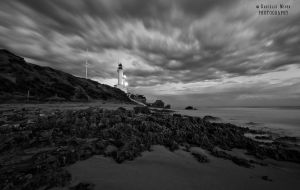 Point Lonsdale Lighthouse BW by DanielleMiner