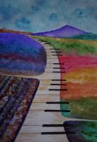 Musical Road (acrylic) by AlexandraDart