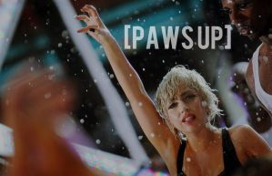 """Paws Up"" Lady Gaga wallpaper by roobarbcrumble"
