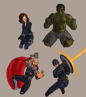 WIP Avengers by vgfm